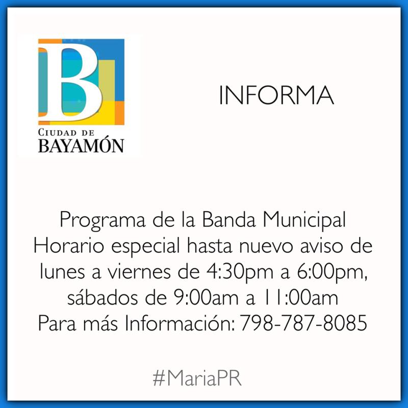 Horario Banda Municipal