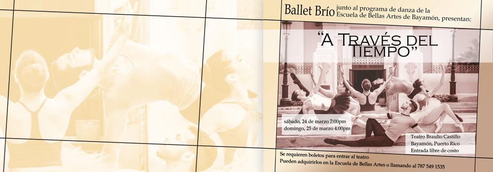 """Ballet Brio """"A Través del Tiempo"""" 24 y 25 de marzo en el Teatro Braulio Castillo"""