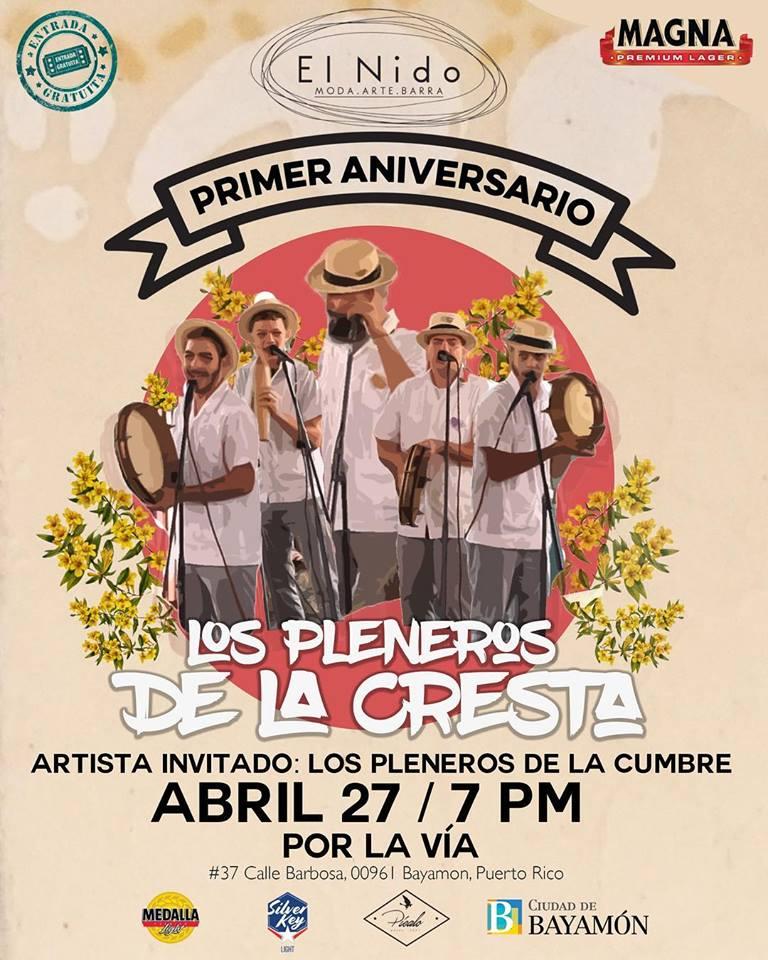 Primer Aniversario de El Nido el 27 de abril de 2018 desde las 7pm