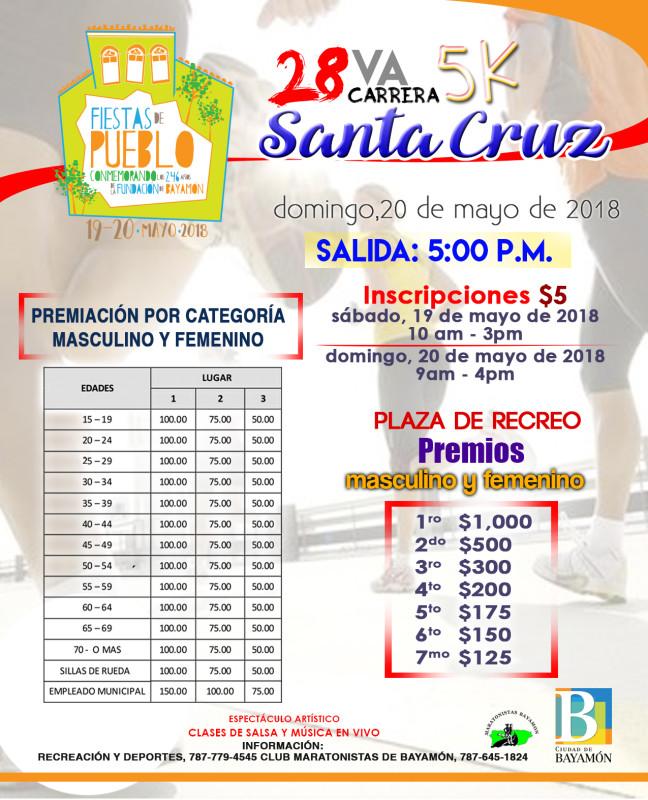 Premiaciones Carrera Santa Cruz