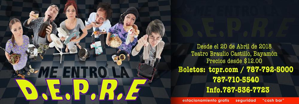 """""""Me entró la D.E.P.R.E."""" en el Teatro Braulio Castillo desde el 20 de abril de 2018"""
