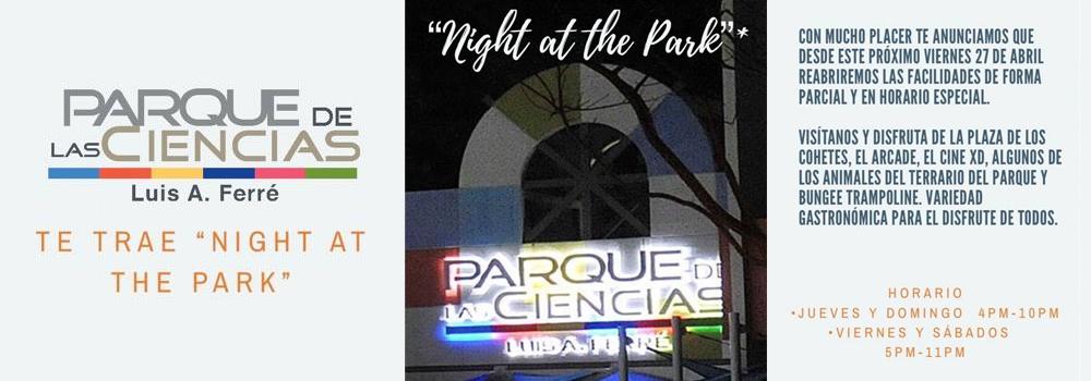 Night at the Park desde el 27 de abril de 2018