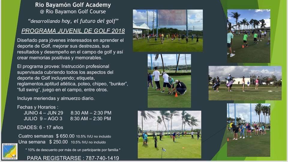 Programa Juvenil de Golf 2018