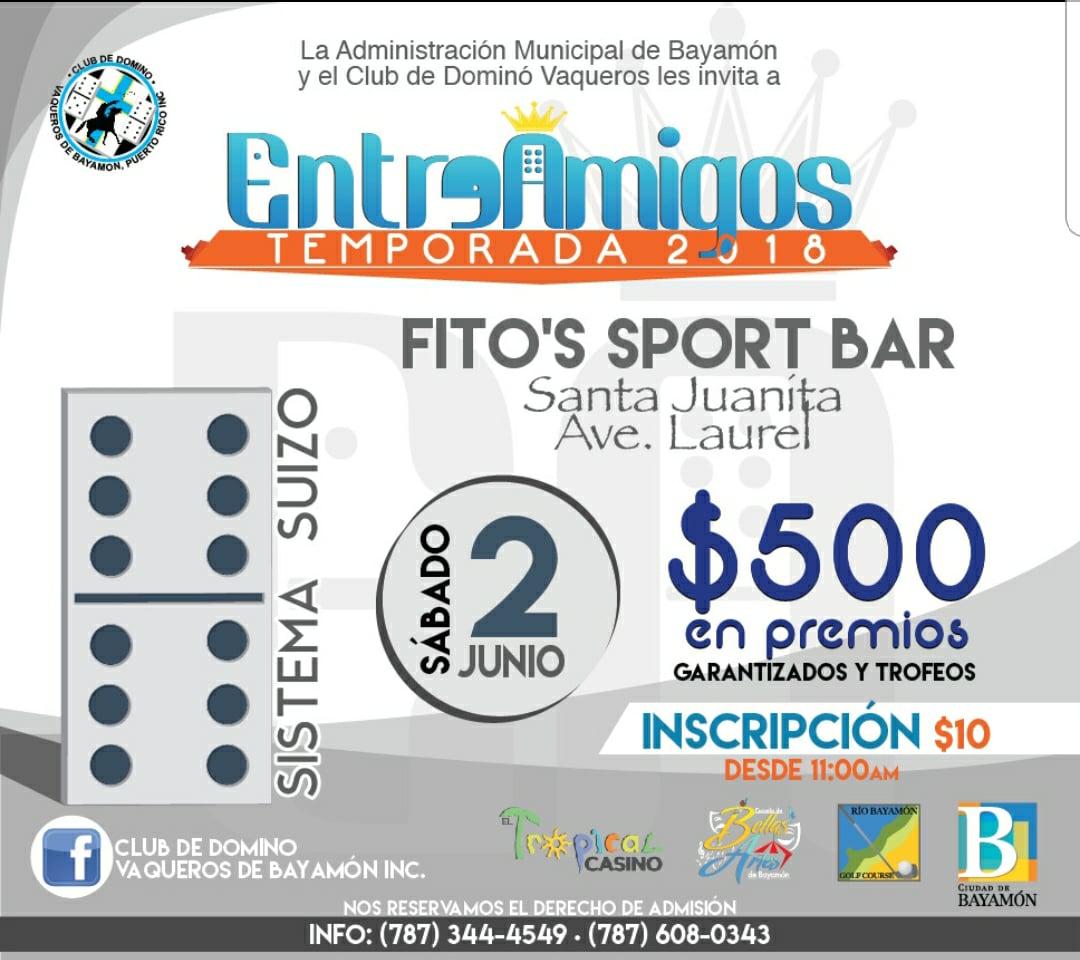 Dominó Entre Amigos el 2 de junio de 2018 en Fito's Sport Bar