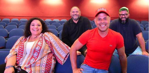 """Actores de """" La Novela"""" en el Teatro Braulio Castillo"""