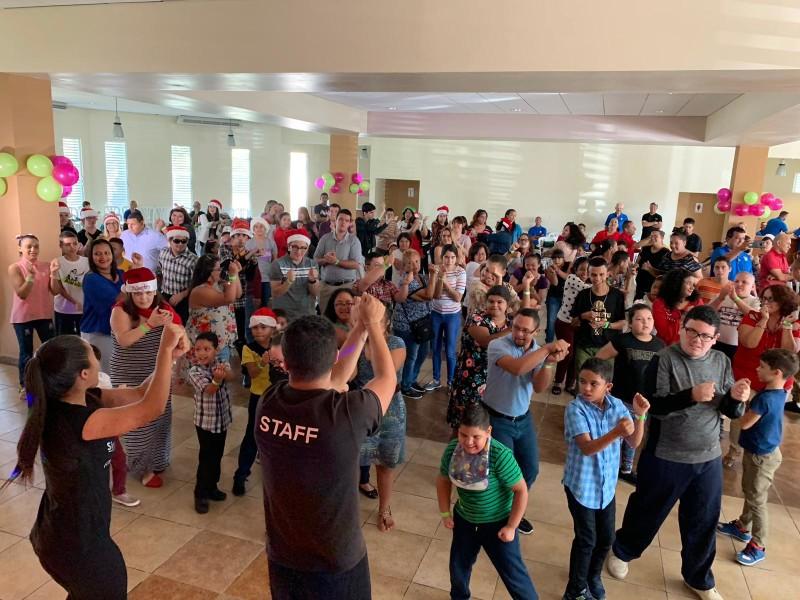 """El Programa de Educación Física Adaptada celebró la """"Bienvenida a una Navidad Especial"""""""