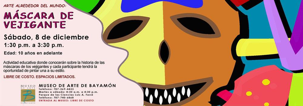 Taller MAB - Mascaras de Vegigantes el 8 de diciembre a las 1:30pm