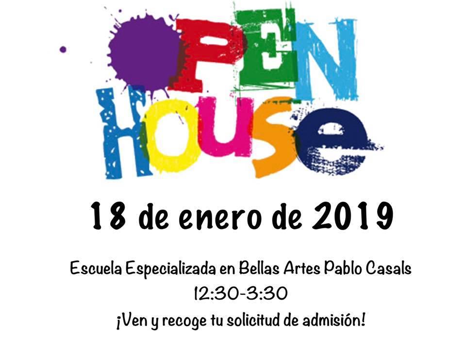 Open House: Escuela Especializada en Bellas Artes Pablo Casals