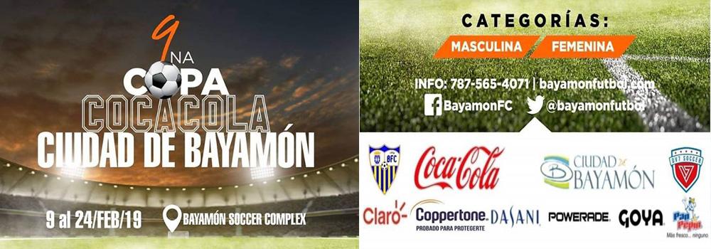 9na Copa Coca-Cola Ciudad de Bayamón de 9 al 24 de febrero de 2019 en el Bayamon Soccer Complex