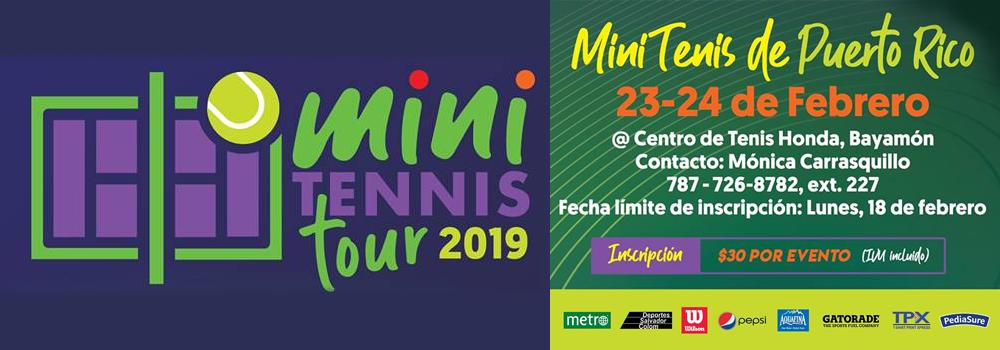 Mini Tennis Tour en el Centro de Tenis Honda del 23 al 24 febrero de 2019