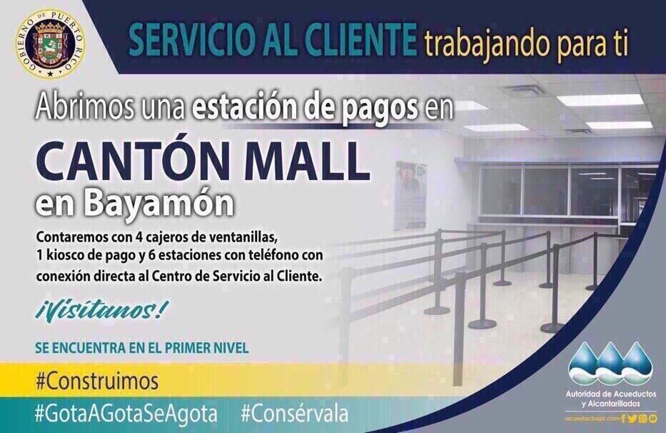 AAA Abre una Estación de Pagos en el Primer Nivel de Cantón Mall en Bayamón