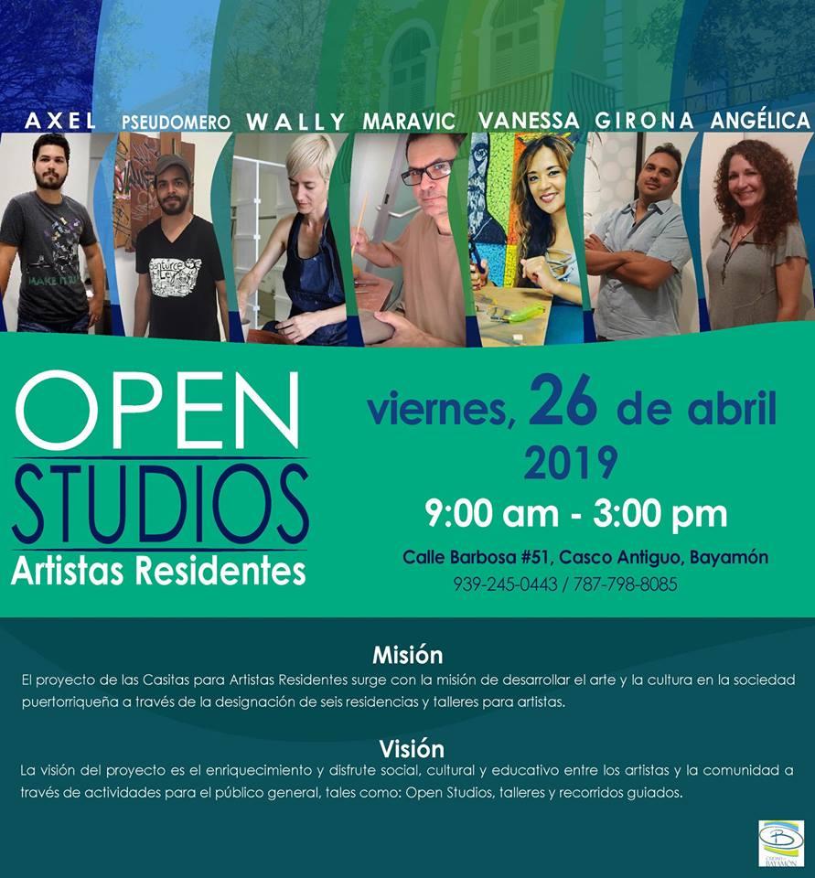 Open Studios el 26 de abril de 2019 en la Calle Barbosa #51