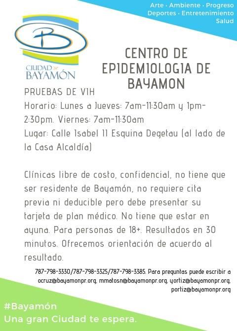Pruebas de VIH en el Centro de Epidemiología de Bayamón