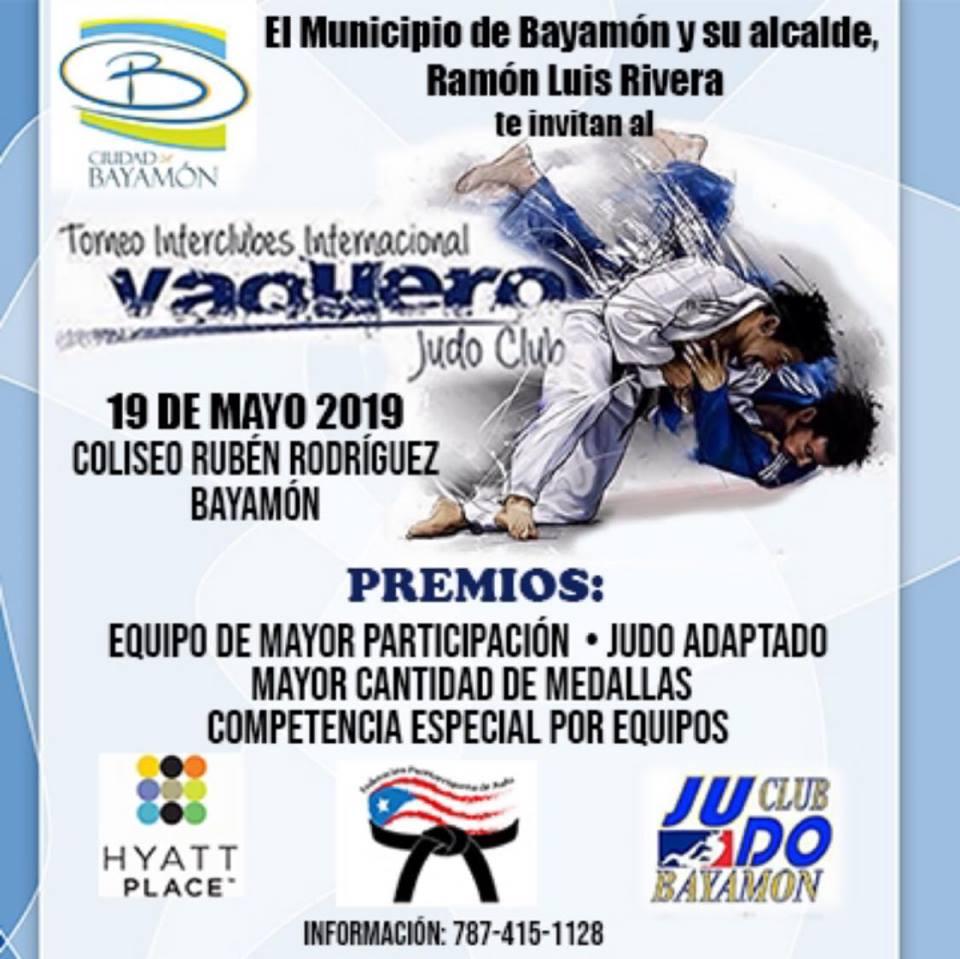 Torneo Interclubes Internacional Vaquero el 9 de mayo de 2019 en el Coliseo Rubén Rodríguez