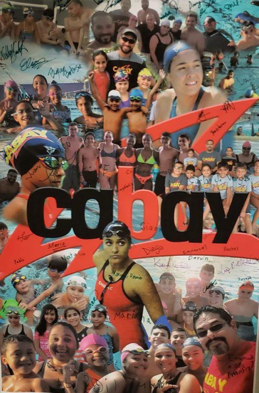 Dedican a la Nadadora Marinés Rosario los 10 Años del Equipo de Natación Cabay