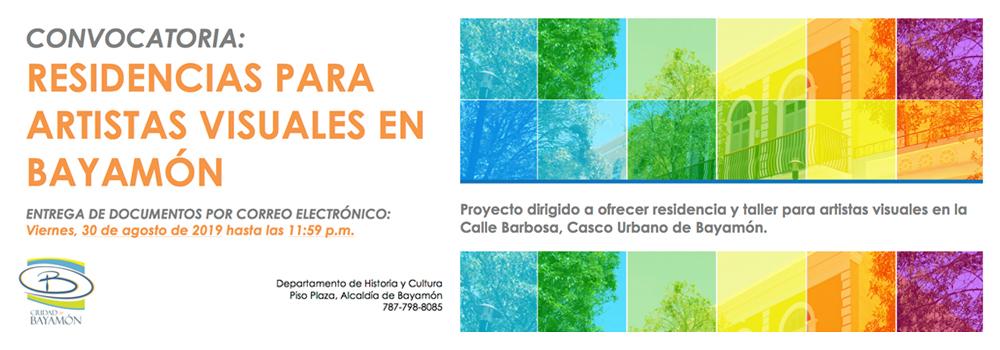 Convocatoria: Residencias para Artistas Visuales en Bayamón