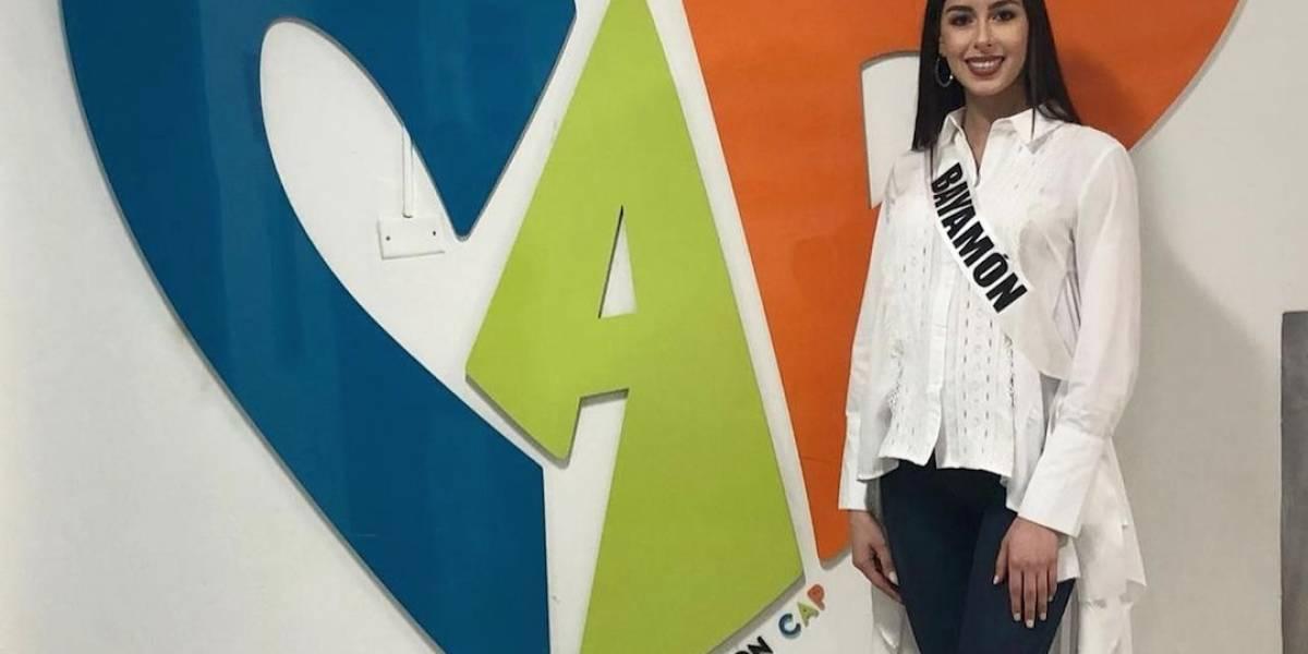 Candidata Miss Mundo en CAP