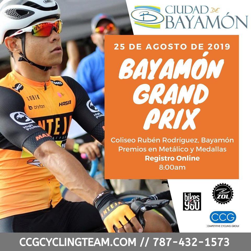 Bayamón Grand Prix. Salida del Coliseo Rubén Rodríguez el 25 de agosto de 2019