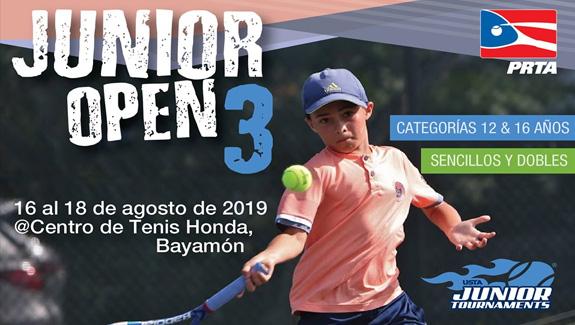 Junior Open 3 del 16 al 18 de agosto de 2019 en el Centro de Tenis Honda