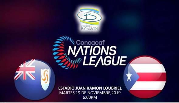 Concacaf Nations League el 19 de octubre de 2019 a las 6pm en el Estadio Juan Ramon Loubriel