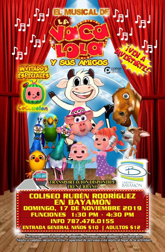 """Llega a Bayamón este Domingo el Show de """"La Vaca Loca y sus Amigos"""" se Abre Nueva Función"""
