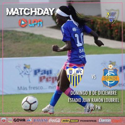 Bayamón FC vs. SPADi en el Estadio Juan Ramón Loubriel el 8 de diciembre a las 4pm