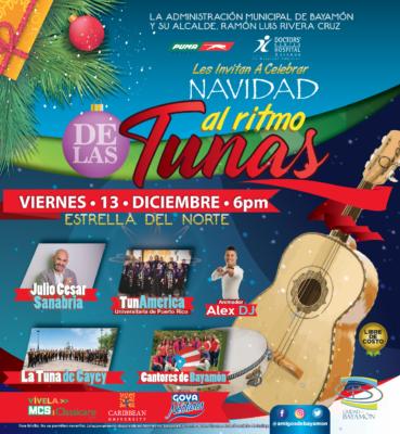 Navidad al Ritmo de las Tunas el 13 de diciembre a las 6pm en la Estrella del Norte