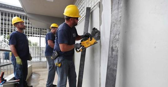 Reparación de Columnas Cortas en Escuela Ludivoco Costoso