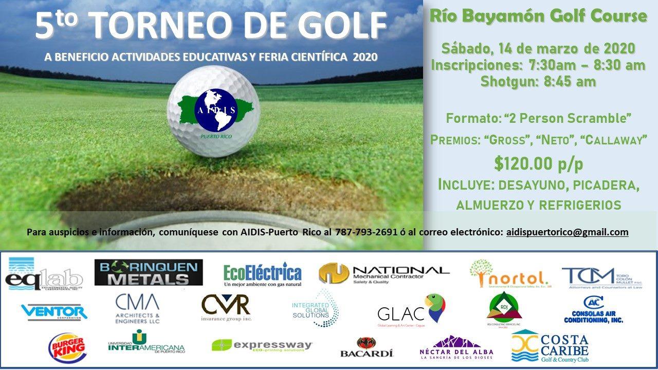 5to Torneo de Golf en el Rio Bayamon Golf Course el 14 de marzo