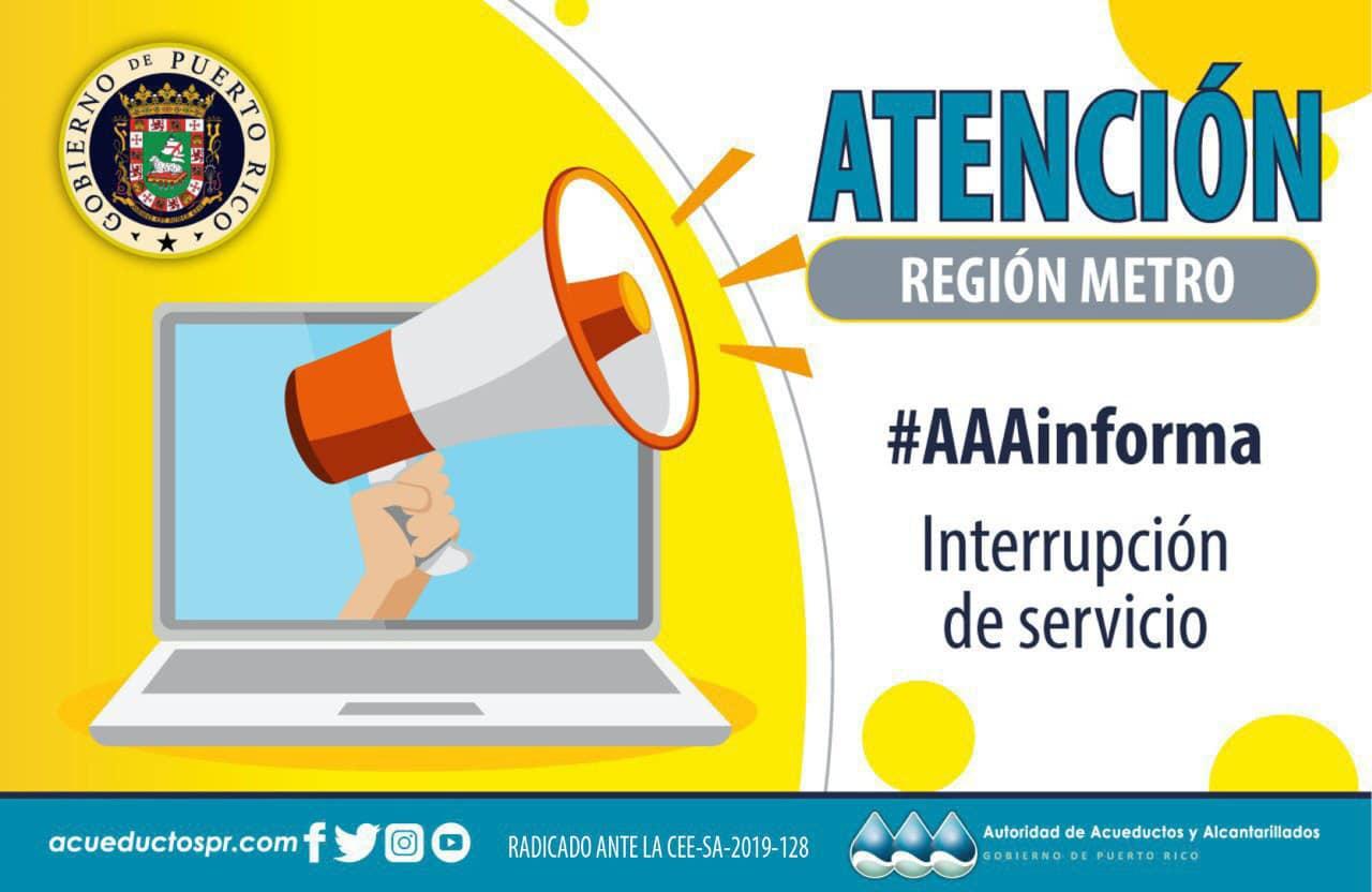 Atención: La AAA Informa Sobre Trabajos en Bayamón