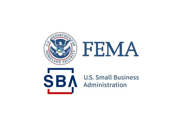 Logo de FEMA y SBA