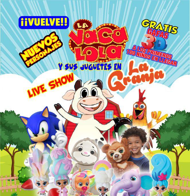 Llega a Bayamón el Nuevo Espectáculo de «La Vaca Lola y sus Juguetes de la Granja en VIVO»