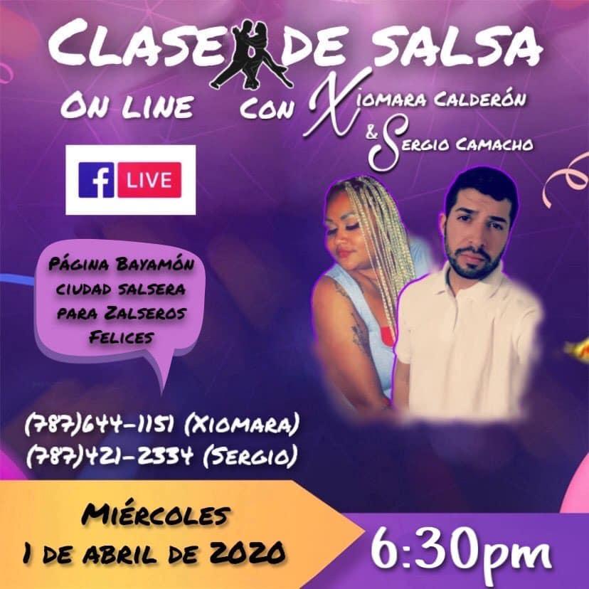 Clase de Salsa Online Accede a Bayamón Ciudad Salserael miércoles a las 6:30pm para el live