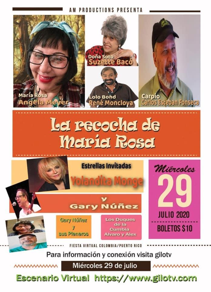 """La recocha de María Rosa"""", una pieza teatral que integra la comedia y la música desde el teatro Braulio Castillo en Bayamón."""