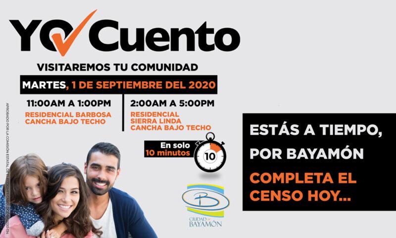 Completa el Censo en tu Comunidad el 25 de agosto en el Centro Comunal JarCompleta el Censo en tu Comunidad el 1 de septiembre