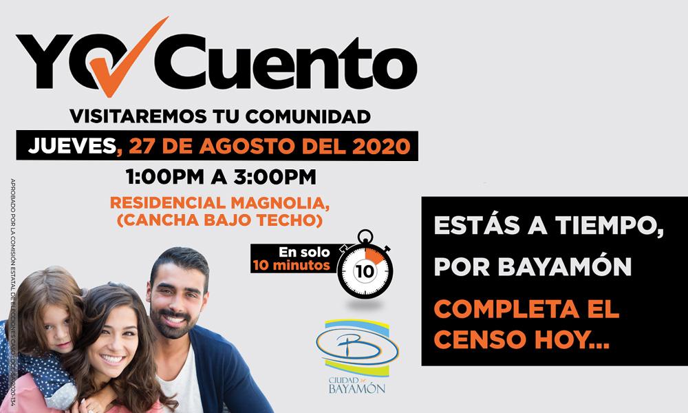 Completa el Censo en tu Comunidad el 25 de agosto en la Cancha Bajo Techo del Res. Magnolia