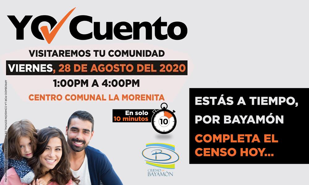Completa el Censo en tu Comunidad el 25 de agosto en el Centro Comunal La Morenita