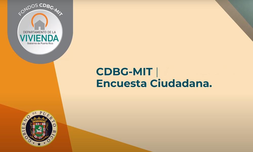 Encuesta CDBG-MIT