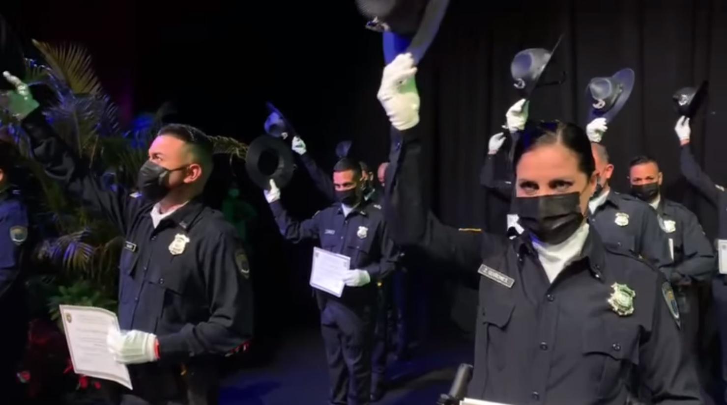 Graduación de 14 Cadetes de Policía Municipal
