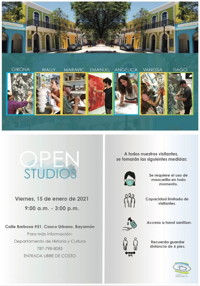Open Studios - 15 de enero de 2021