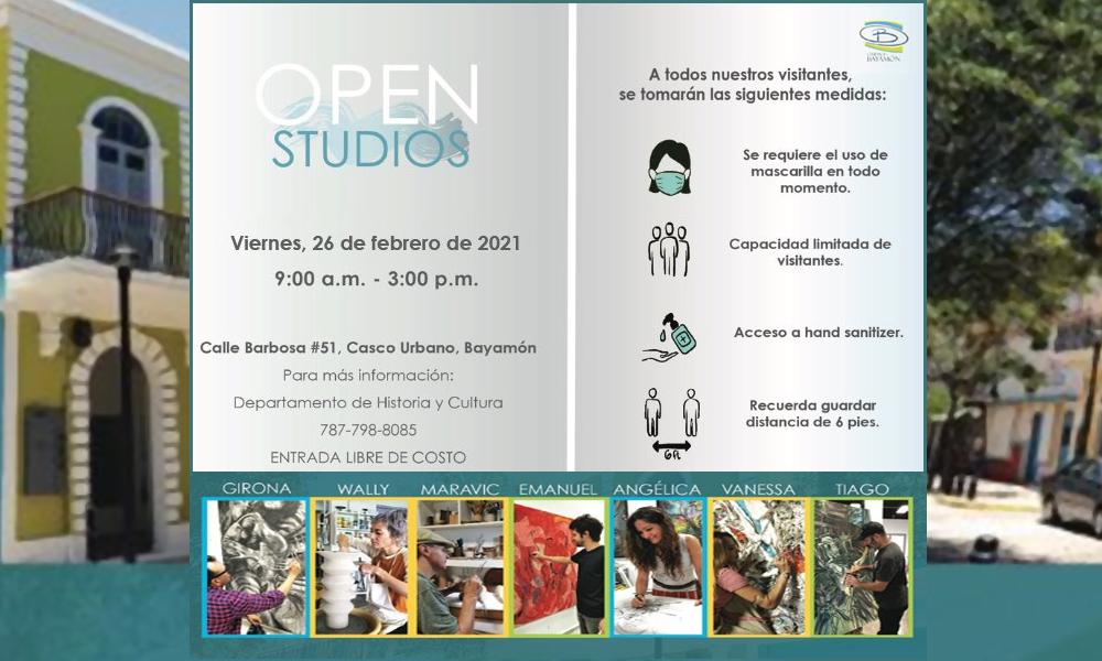 Open Studios el 26 de febrero desde las 9am en la Calle Barbosa #51