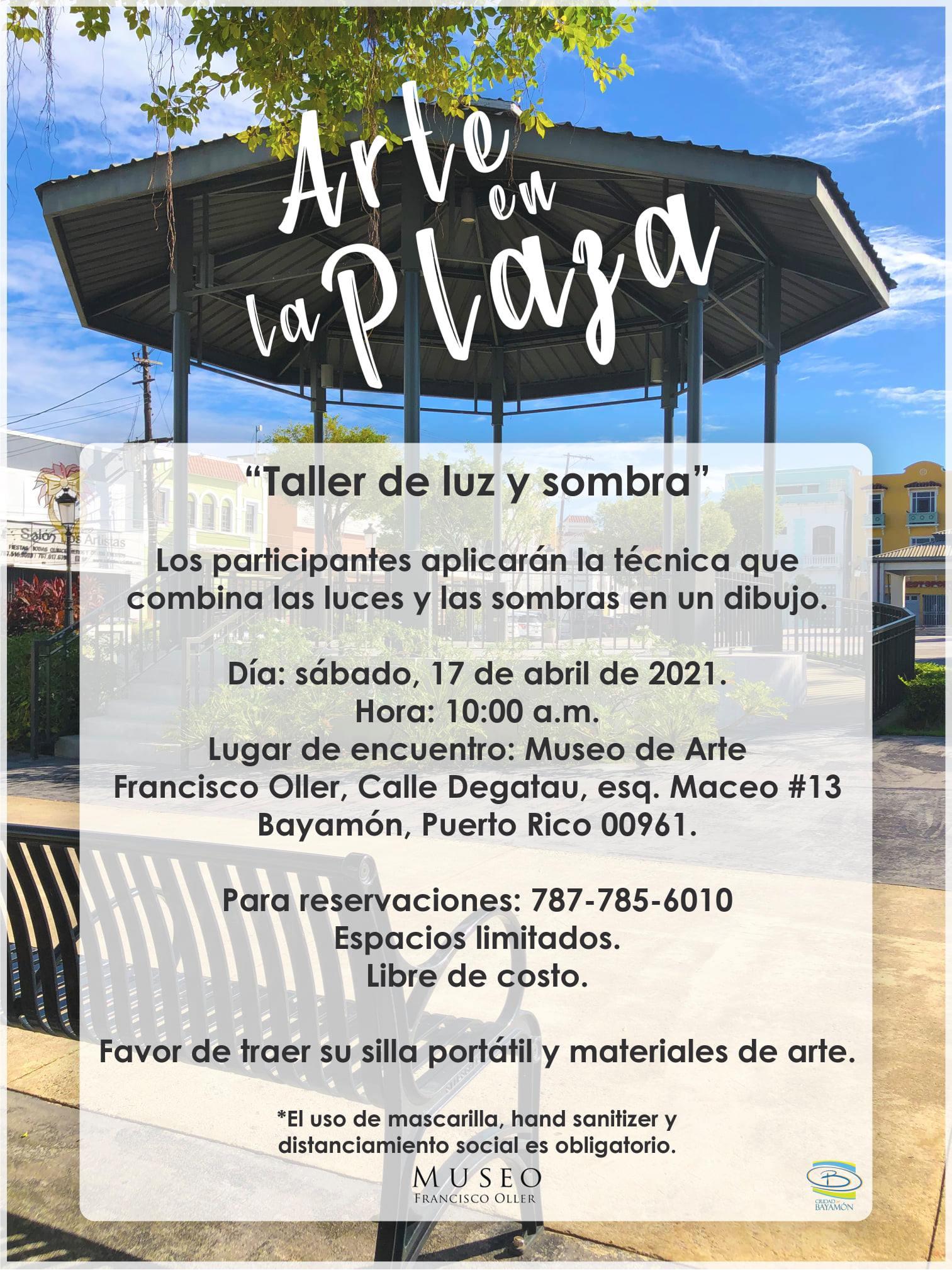 Arte en la Plaza el 17 de abril a las 10am