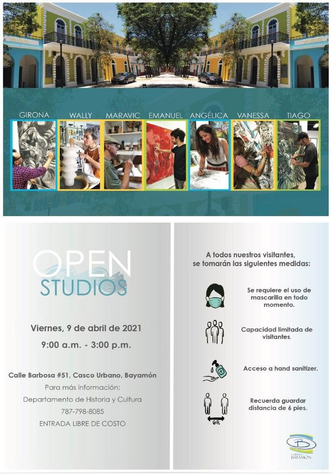 Open Studios en la Calle Barbosa #51 el 9 de abril de 2021