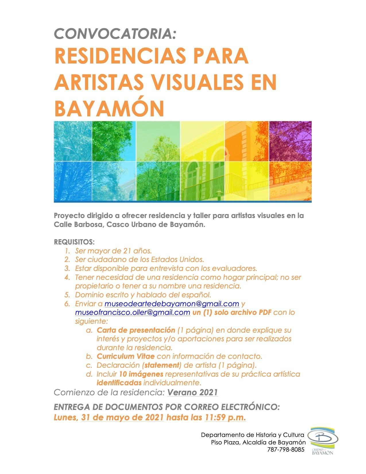 Convocatoria para Artistas Visuales en Bayamón