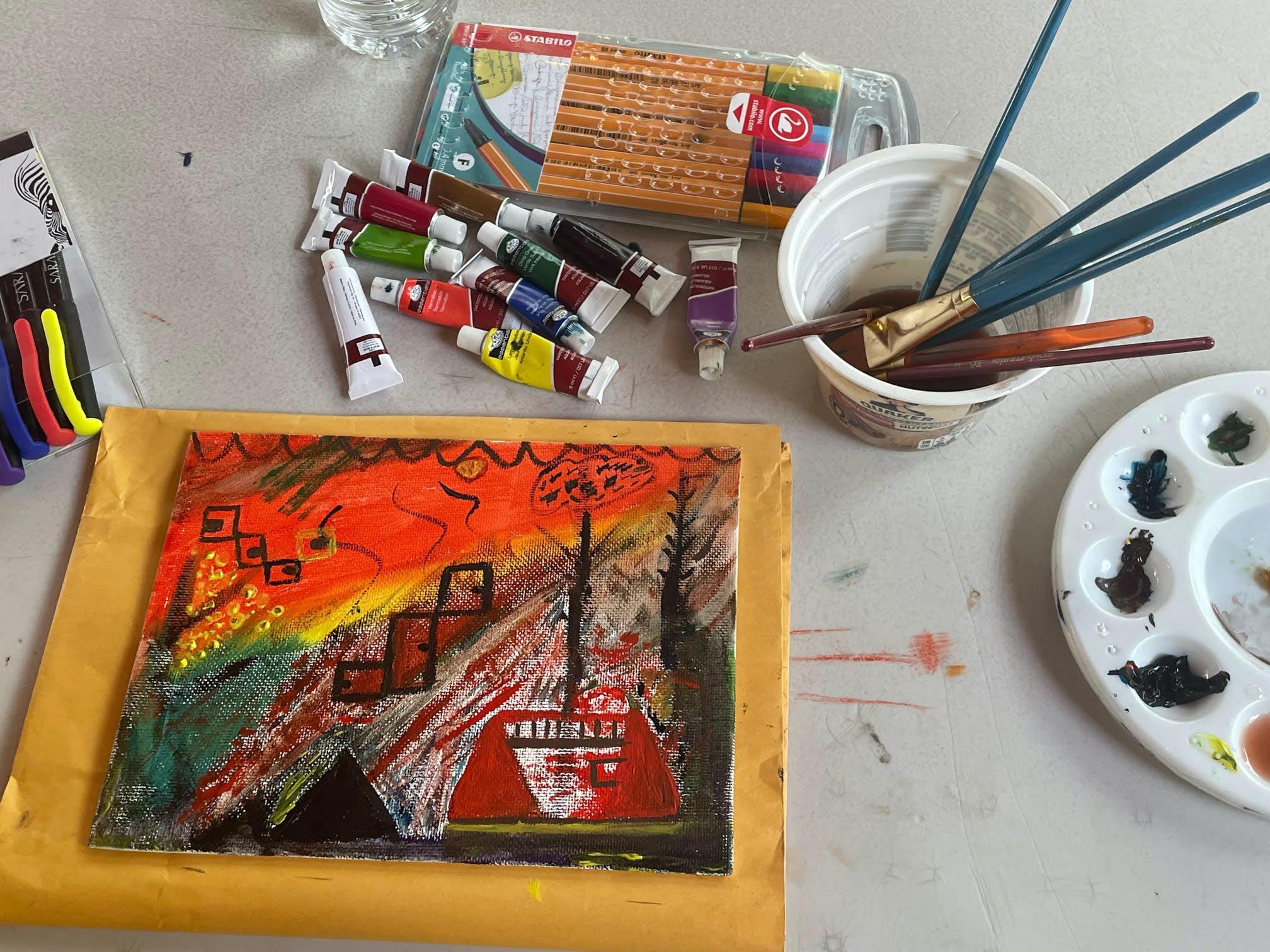 """Galería: Taller de Collage Inspirado en la Obra """"Torrente"""""""