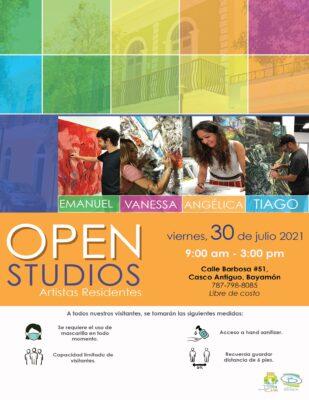 Open Studios el 30 de julio
