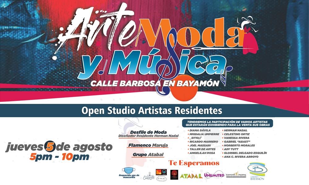 Arte, Moda y Música en la Calle Barbosa el 5 de agosto desde las 5pm