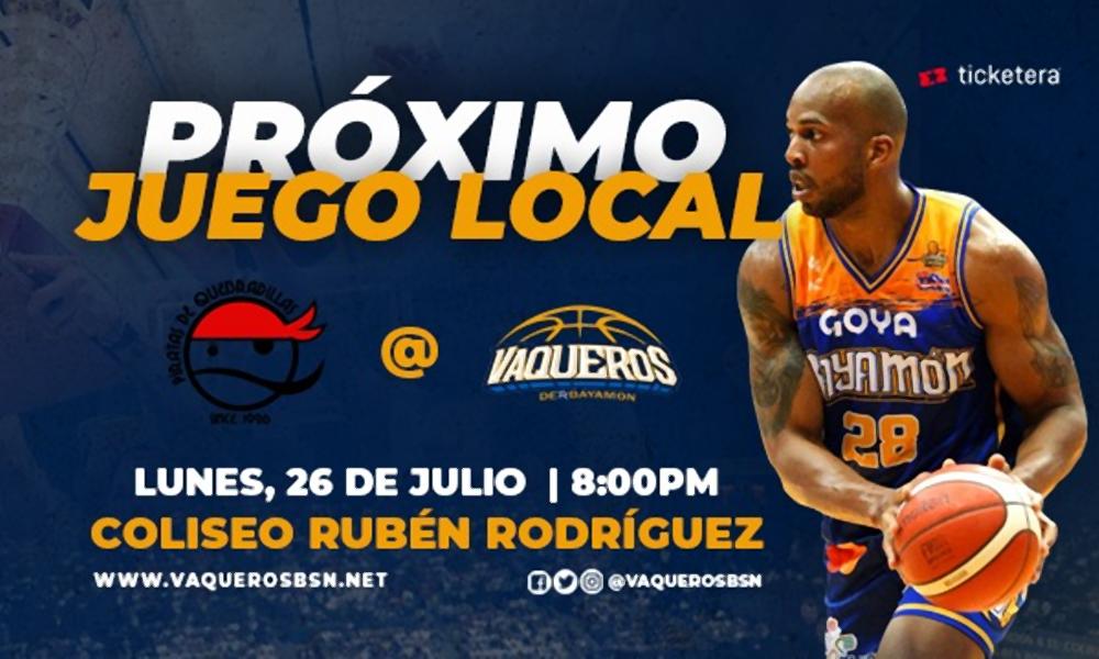 Juego de Vaqueros - 26 de julio en el Coliseo Ruben Rodriguez